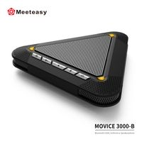Meeteasy MVOICE 3000-B Wireless BT Conference Speakerphones with 3 microphones for office systems