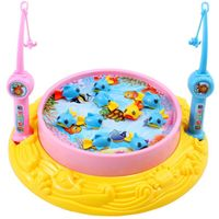 Fishing Toys Child Music Playing House USB Electronic Fishing Platform Spin Magnetics Toys
