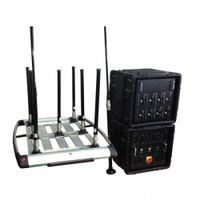 Portable Pelican Convoy 8 bands 510W RCIED Bomb Jammer (up to 1km )