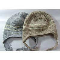 hand crochet stripe beanie for kids