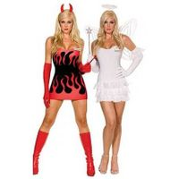 Reversible Angel & Devil Costume sexy dress party props