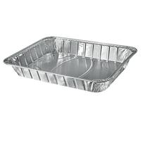 13 X 10.5 Inch 50 Pack Disposable Aluminum Foil Half Size Deep Steam Table Pans With Foil Lids thumbnail image