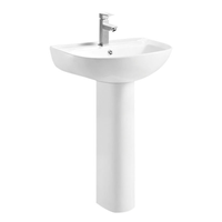 Pedestal wash basin ceramic bathoom sink sanitary ware