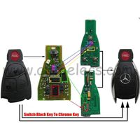 Remote Key 315Mhz PCB Board for Update Mercedes Benz Old Black key to Chrome Key