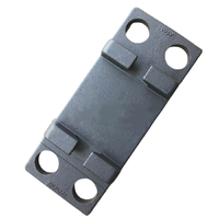 Casting ribbed baseplates/ tie plate with 4 holes for railroad fastening