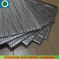 Double air bubble with alum foil facing aluminum foil air bubble insulation bubble foil