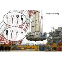 Steel Material Customized Wire Rope Sling IWR / IWS / FC Core Type
