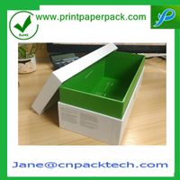 Luxury Custom Rigid Cardboard Box Shoulder Box Shoes Packaging Box Three Pieces Box