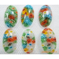 Handmade Millefiori Lampwork Beads, millefiori glass, Multicolored