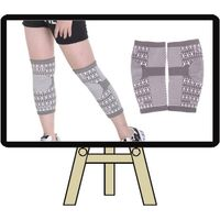 Magnetic knee support wraps knitting compression knee sleeve