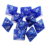 Wholesale 8 sided polyhedral acrylic dice