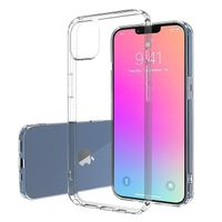 Shockproof Straight Edge Design Soft TPU Clear Transparent Mobile Phone Cover Case For iPhone 13 Pro
