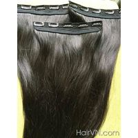 [VIETNAM HAIR] 100% Remy Hair 12 inches Straight Clip In Hair Extensions High Quality