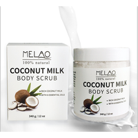 Coconut Milk Body Scrub Anti Cellulite Scrub & Exfoliator, 12 Oz Natural Skin Care Formula Helps wit
