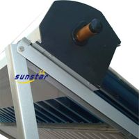 Heat pipe solar collector with evacuated tube thumbnail image