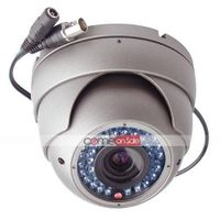 Vandal Proof Day + Night Dome Camera - 1/3 Inch CCD -PAL