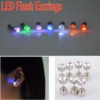 Led Earrings Women Men Hot Sale Fashion Jewelry Light Up Crown Crystal Drops LED Earrings thumbnail image