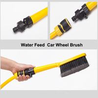 Water flow-thru car wheel wash brush,super soft bristle ideal for use