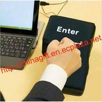 Novelty USB Big Enter Key Anti Stress Relief Supersized Enter Key Office Desk Foam Nap Pillow thumbnail image