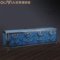 Leather PU Wooden TV stands living room,bedroom furniture