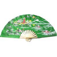 Bamboo silk hand fan thumbnail image