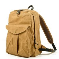 Waterproof outdoor Unisex Waxed Canvas School bags sports backpack Bag Bolso