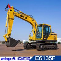 SDLG 13T hydraulic excavator LG6135E for sale,2018 new model E6135F with low price