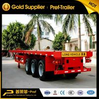 PREF 3 axles 40ft flatbed container semi trailer