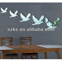 dove Mirror Wall Art Sticker Wall Decal Transfers