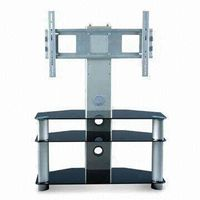 HSD-T-003,the new silver multistory shelfs lcd tv floor stand (with tempered glass,stainless steel t thumbnail image
