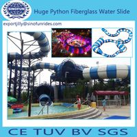 Python fiberglass water slide for sale