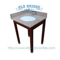 High quality Bathroom Base Cabinet with wooden legs thumbnail image