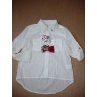 girls pure white shirts with bowknot thumbnail image