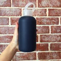 BPA Free 500Ml Pyrex Glass Water Bottle With Silicone Sleeve