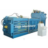 horizintal waste paper plastic PET bottle baler