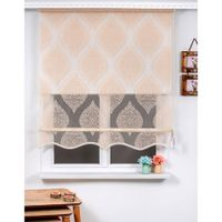 Double mechanical powder colored tulle roller blinds