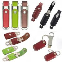 hotsell usb flash disk leather model OEM free shipping