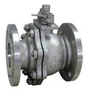 cast steel ball valve floating type flange end