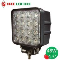 "Hotsale Auto Parts 4.3"" Square Offroad 48W Led Work Light"