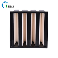China Made Factory Manufacture H11/H12/H13 Low resistance V Shape Combined aluminum precision filte thumbnail image
