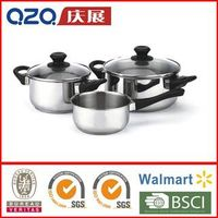 5pcs Cookware Set-CW15 ,high quality induction stainless steel cookware set