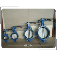CAST IRON GG25 CONCENTRIC RUBBER LINED BUTTERFLY VALVE thumbnail image