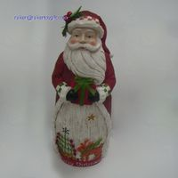 12 Inch Resin Santa Claus Holiday Statue