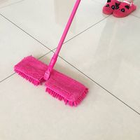 YUJIE 2017 two-sided flat microfiber and chenille mop
