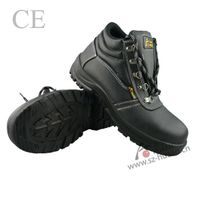 mid cuff safety shoes with steel toe cap
