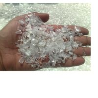 Clean Hot washed 100% clear pet bottle scrap / pet flakes /recycled pet resin Ready for Sale thumbnail image