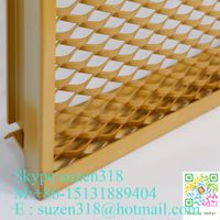 Decorative Stretched Aluminum Expanded Metal Mesh for Building Facade thumbnail image