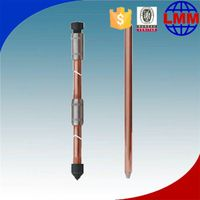 pure threaded stainless steel grounding rod