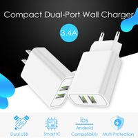 Dual USB Charger Adapter 3.4A Mobile Phone Charger thumbnail image