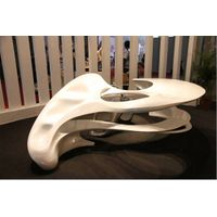 Modern curved office desk for hotel/office/home. thumbnail image